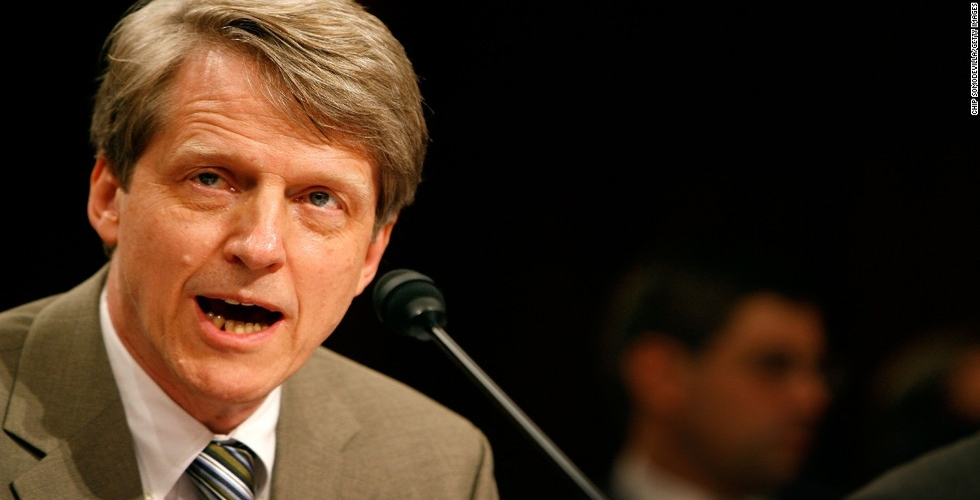 Robert Shiller Says Bitcoin Is A Bubble