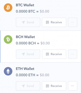 bitcoin cash wallet coinbase