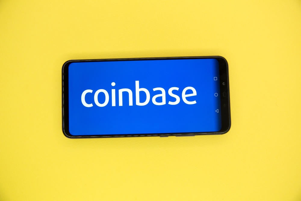 Tula, Russia - JANUARY 29, 2019 Coinbase - Buy Bitcoin and More, Secure Wallet mobile app on the display - Image
