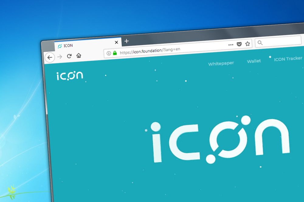 Novosibirsk, Russia - May 12, 2018 - Homepage of Icon cryptocurrency on PC, web adress - icon.foundation. - Image