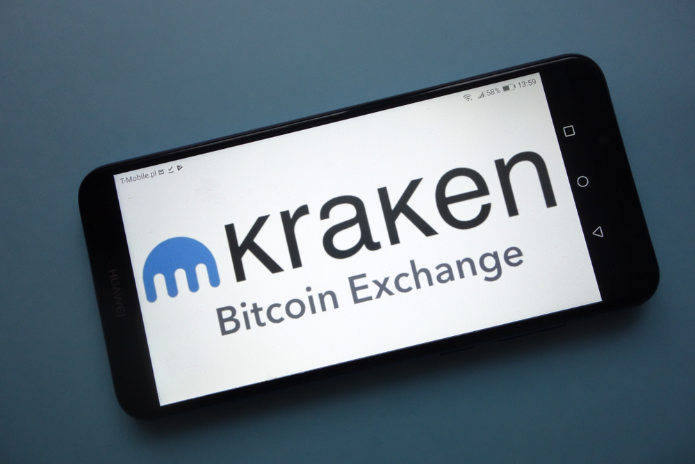 KONSKIE, POLAND - November 18, 2018 Kraken cryptocurrency exchange logo displayed on smartphone - Image